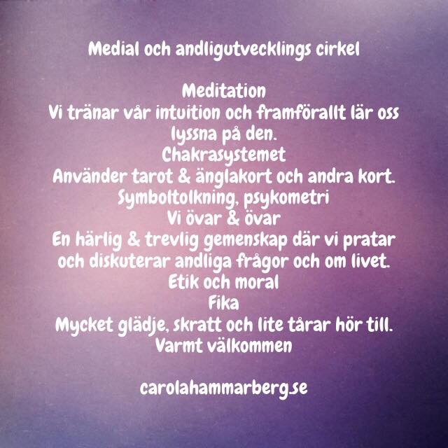 Medial och andligutvecklingscirkel i Enköping